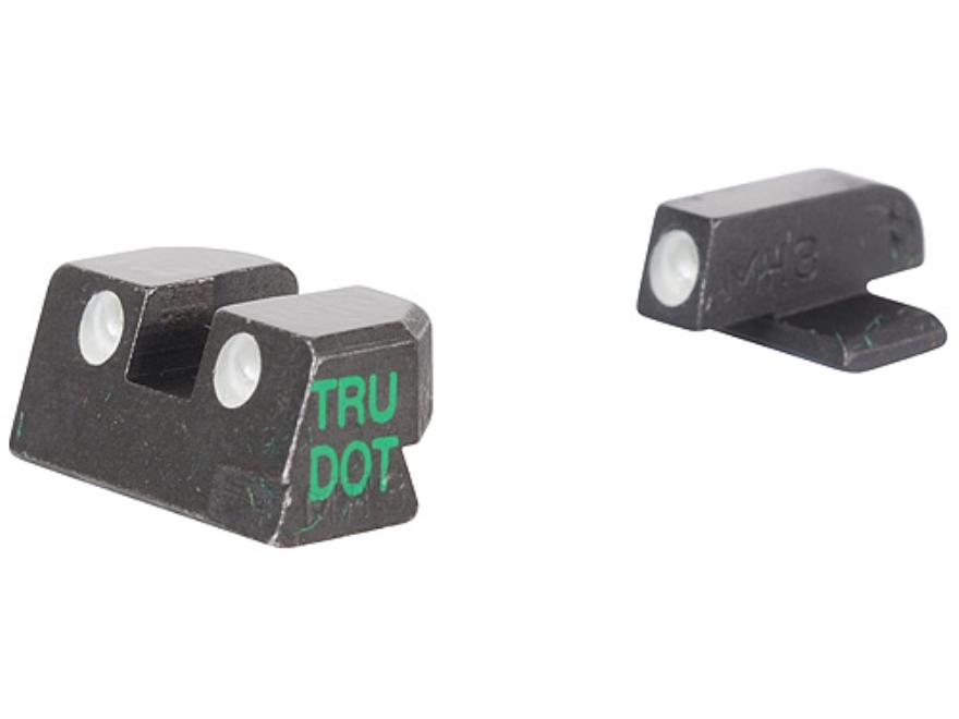 Meprolight Tru-Dot Sight Set Springfield XD 45 ACP Steel Blue Tritium Green Front