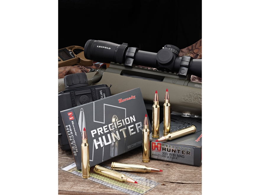 Hornady Precision Hunter Ammunition 300 Weatherby Magnum 200 Grain ELD-X Box of 20