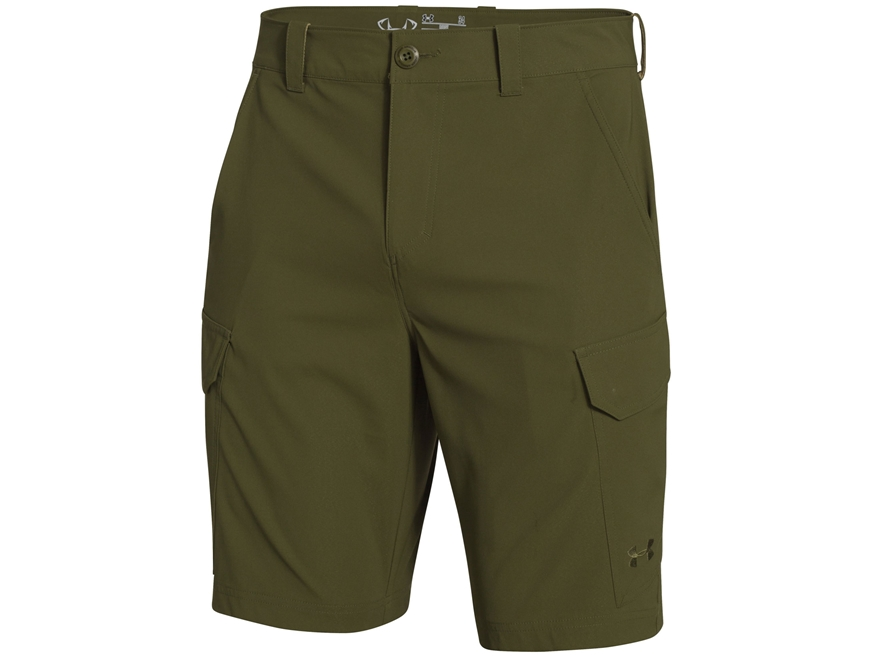 Under armour men 39 s fish hunter shorts polyester upc for Under armour fishing shorts