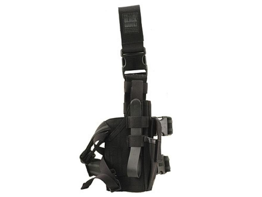 BLACKHAWK! Omega 6 Elite Drop Leg Holster Beretta 92, 96, S&W 5906 Nylon Black