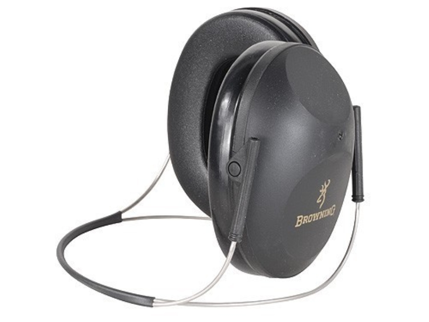 Browning Low Profile Behind the Head Earmuffs (NRR 19dB) Black