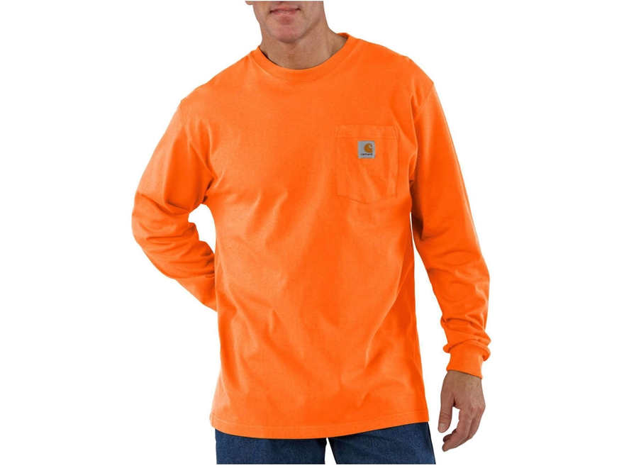 Carhartt Men's Workwear Pocket T-Shirt Long Sleeve Cotton