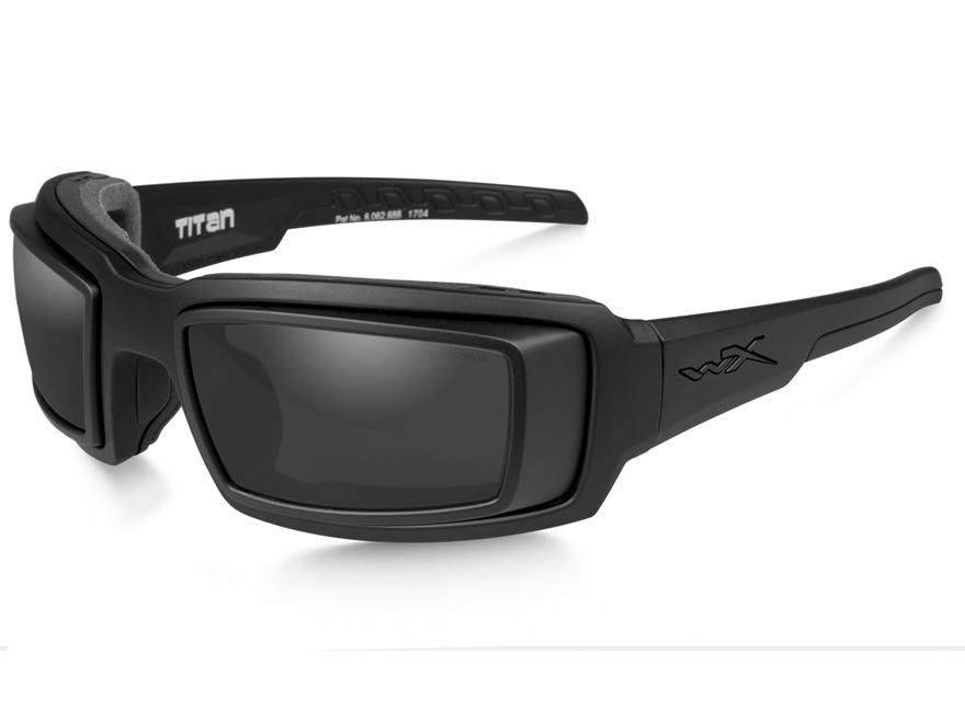 Wiley X WX Titan Sunglasses RX Rim Matte Black Frame/Grey Lens