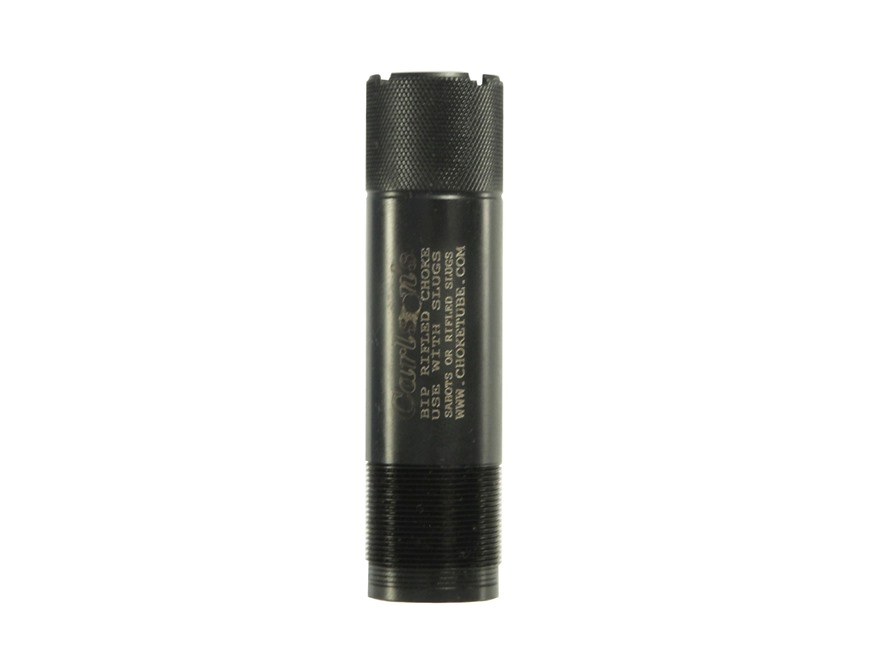 Carlson's Extended Rifled Choke Tube Browning Invector Plus 12 Gauge Black