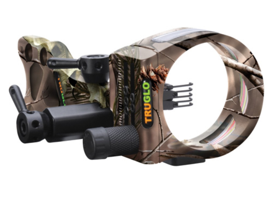 "TRUGLO TSX Pro TL 5 Light 5-Pin Bow Sight .019"" Diameter Pins Aluminum Realtree AP HD Camo"