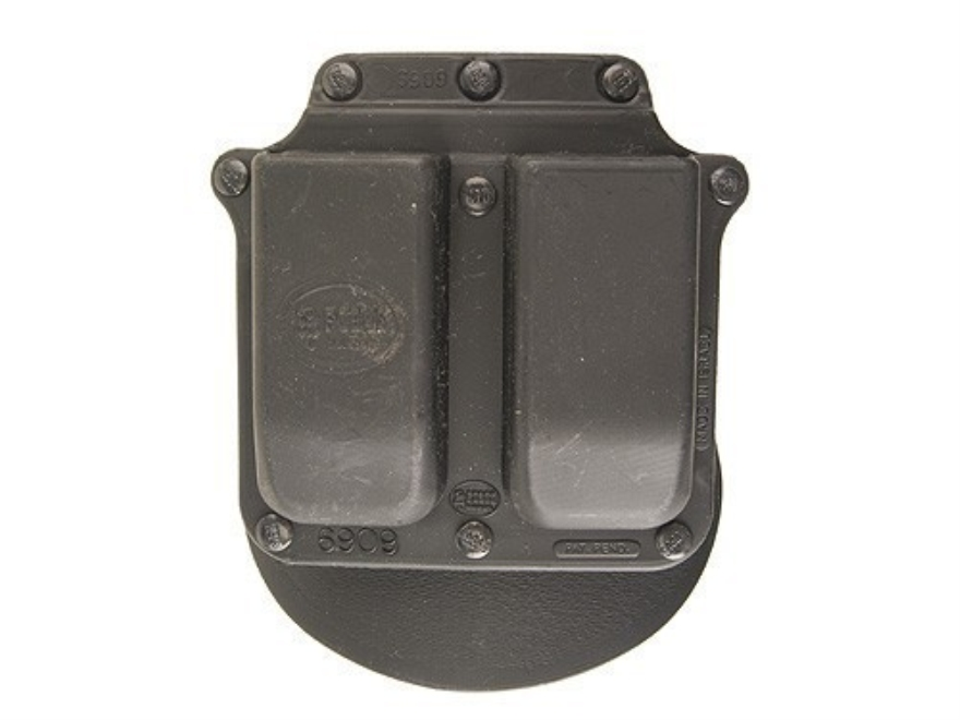 Fobus Roto Paddle Double Magazine Pouch Double-Stack 9mm Luger, 40 S&W Polymer Black