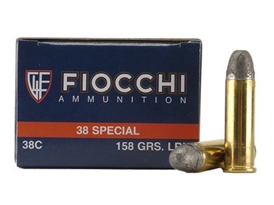 Fiocchi Shooting Dynamics Ammunition 38 Special 158 Grain Lead Round Nose Box of 50
