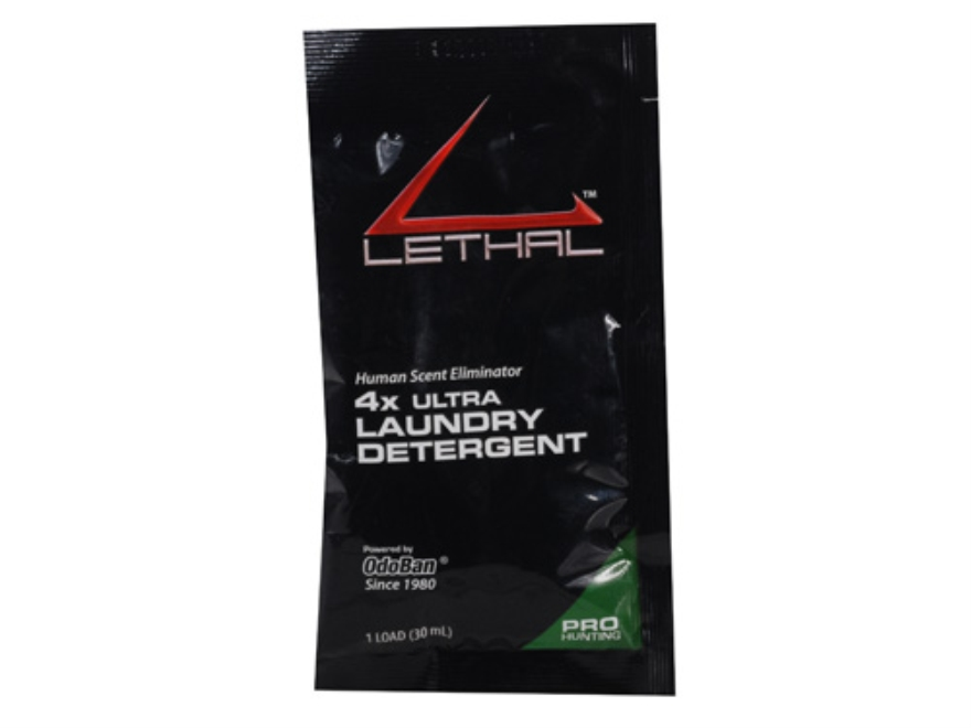 Lethal 4x Ultra Scent Eliminator Laundry Detergent Packet Liquid 1 oz Pack of 24