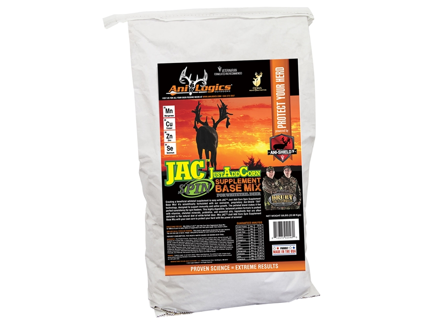 Anilogics JustAddCorn SPIN Base Mix Deer Supplement in 50lb Bags