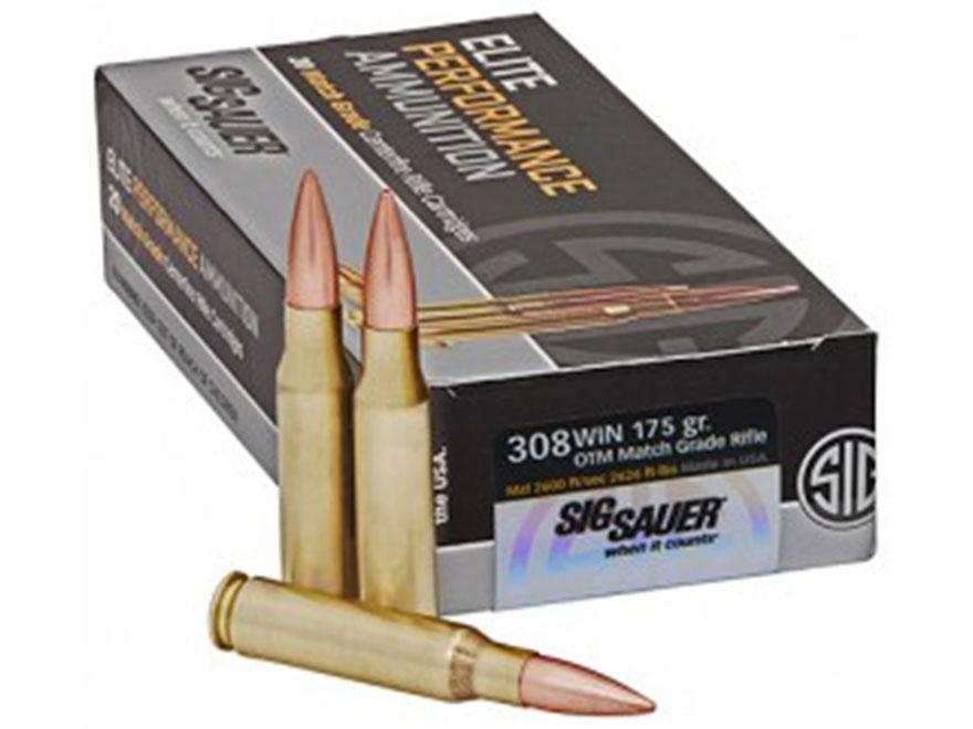 Sig Sauer Elite Performance Match Grade Ammunition 308 Winchester 175 Grain Open Tip Ma...