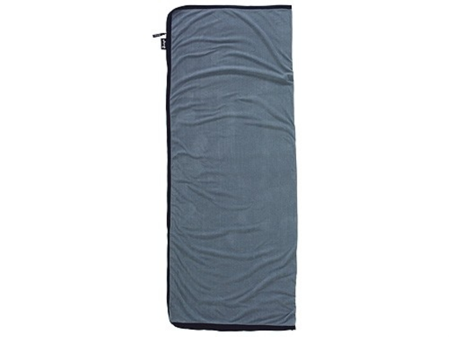 "Slumberjack Micro Fleece Rectangular Sleeping Bag Liner 32"" x 76"" Polyester Gray"