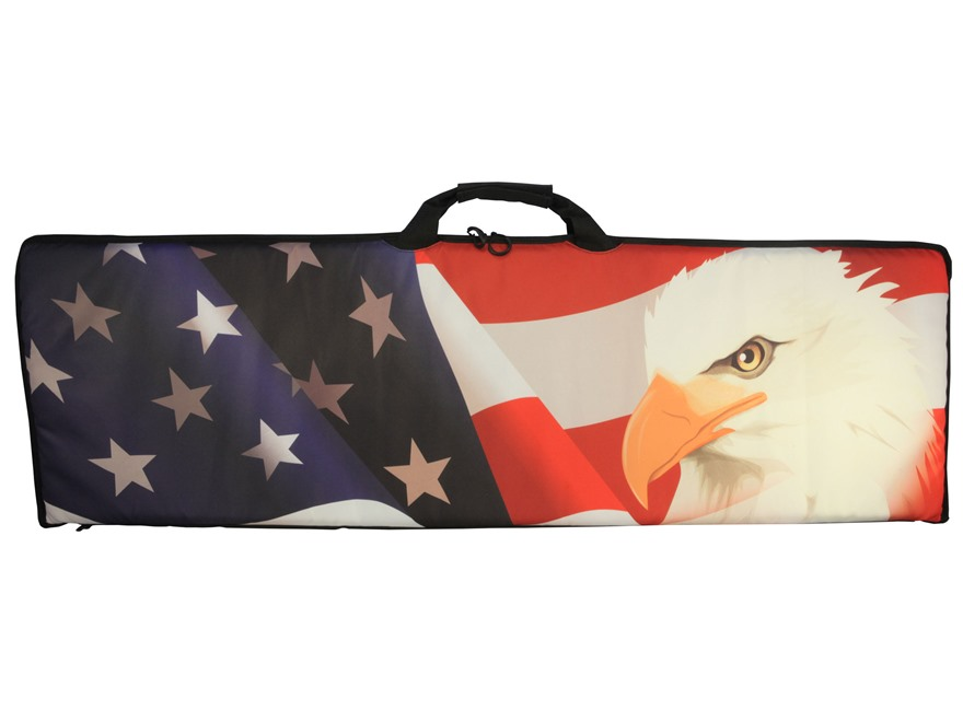 "MidwayUSA Freedom Series Rifle Case 46"" American Flag with Eagle"