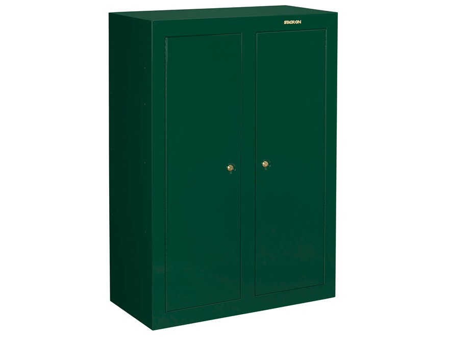 Stack-On Convertible Double-Door Steel Security 16 to 31-Gun Cabinet Hunter Green