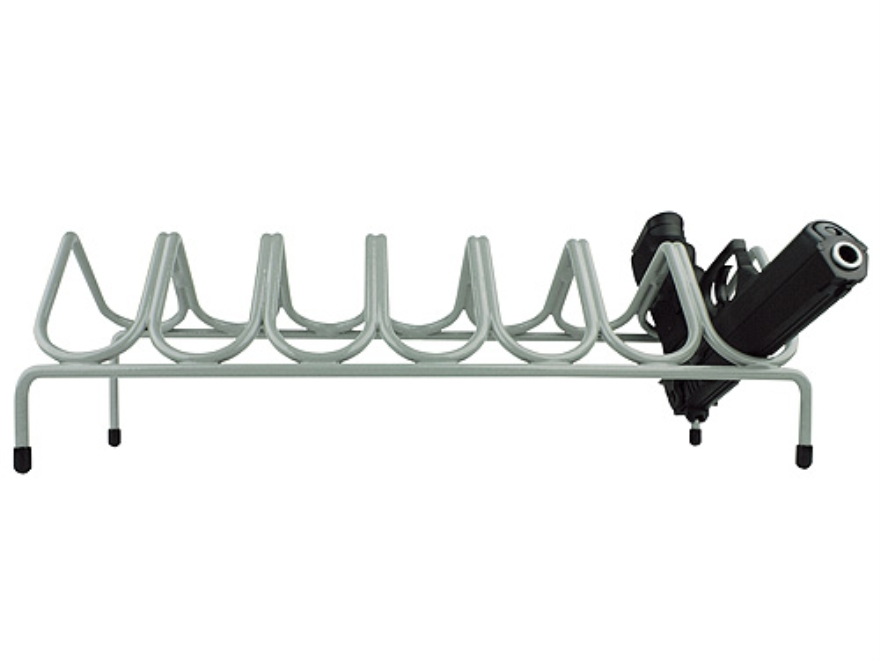Versatile Gun Rack 7 Pistol Gun Rack Vinyl Coated Steel Gray