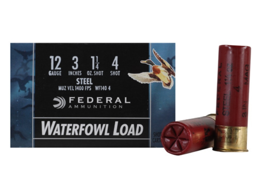 "Federal Speed-Shok Waterfowl Ammunition 12 Gauge 3"" 1-1/4 oz #4 Non-Toxic Steel Shot"