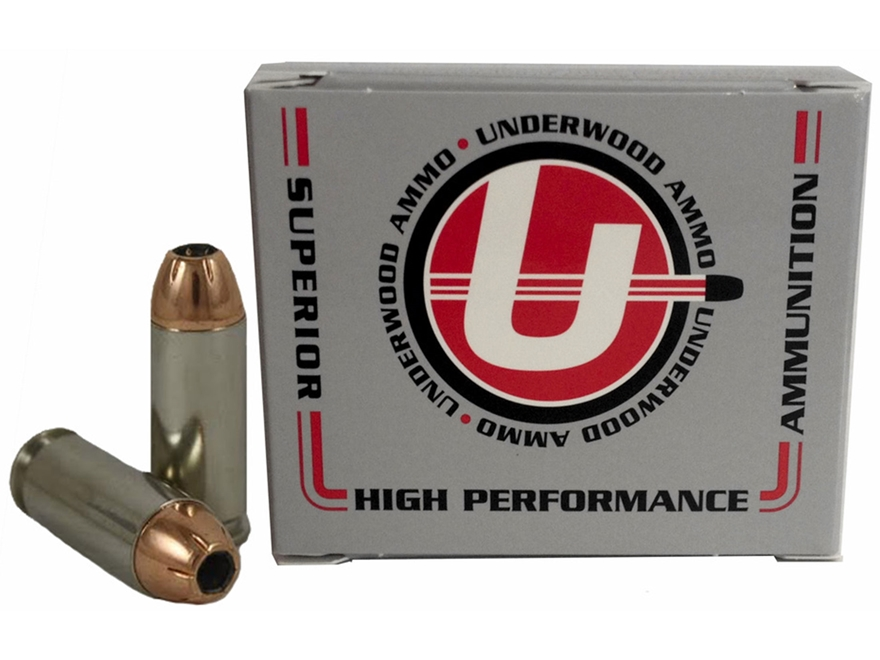 Underwood Ammunition 10mm Auto 180 Grain Hornady XTP Jacketed Hollow Point Box of 20