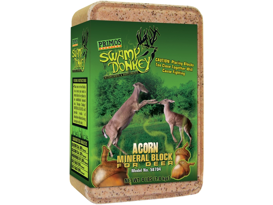 Primos Swamp Donkey Sweet Acorn Deer Attractant 4 lb Block