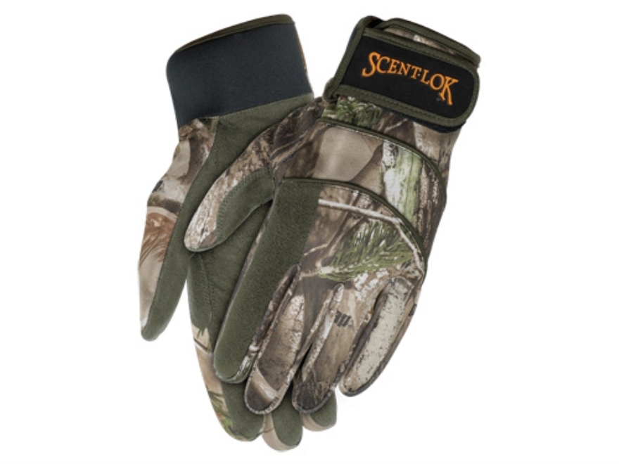 Scent-Lok Midweight Fleece Gloves Polyester Realtree AP Camo XL