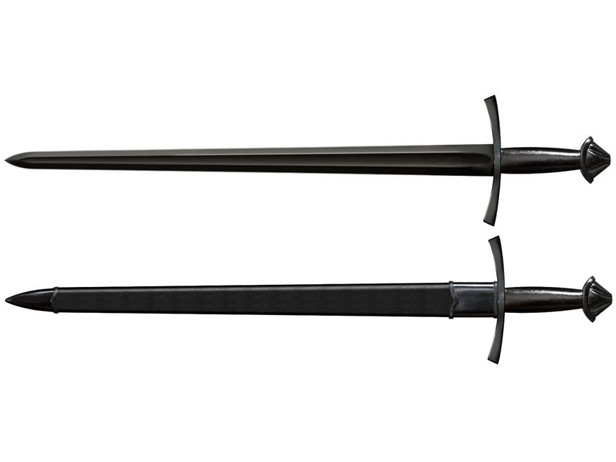 "Cold Steel MAA Norman Sword 30"" 1055 Carbon Steel Blade Leather Handle"