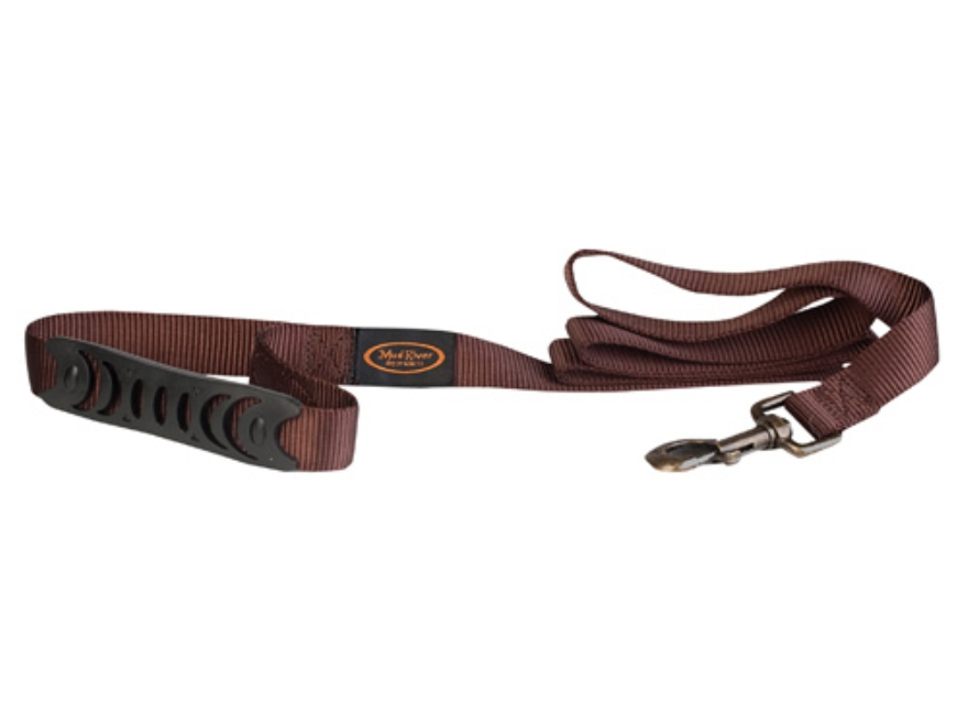 Mud River Hatch Dog Leash 2' Nylon and Rubber Brown