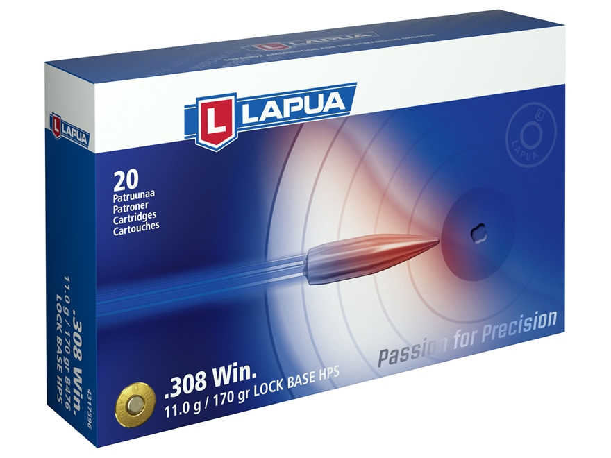 Lapua Ammunition 308 Winchester 170 Grain Full Metal Jacket Box of 20
