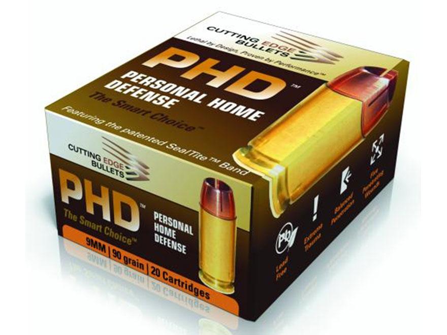 Cutting Edge Bullets PHD Ammunition 9mm Luger 90 Grain HG Raptor Hollow Point Copper Le...