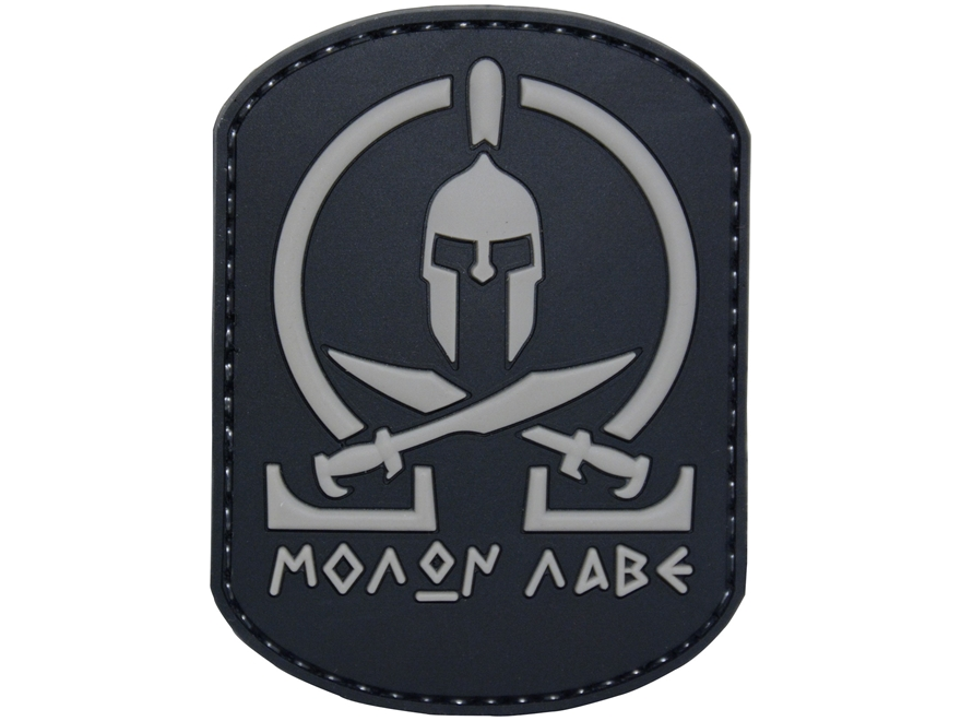 "5ive Star Gear Molon Labe PVC Morale Patch Black 3"" x 2"""
