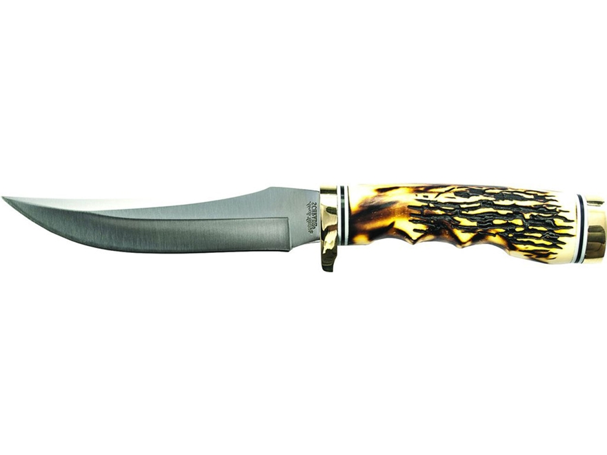 "Uncle Henry Golden Spike Fixed Blade Hunting Knife 5"" Clip Point 7Cr17 High Carbon Stai..."