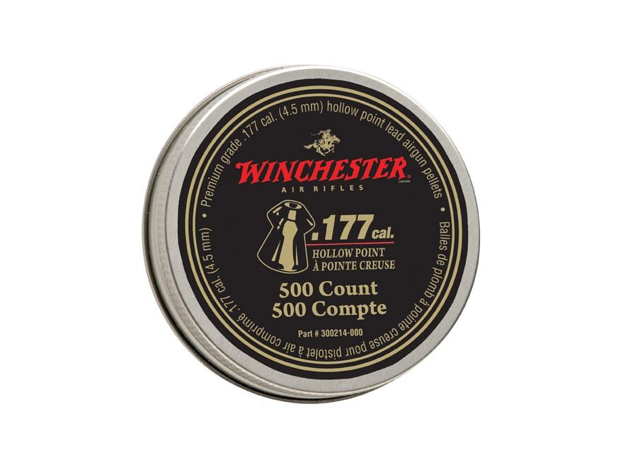 Winchester Airgun Pellets 177 Caliber 9.7 Grain Hollow Point Pellets Tin of 500