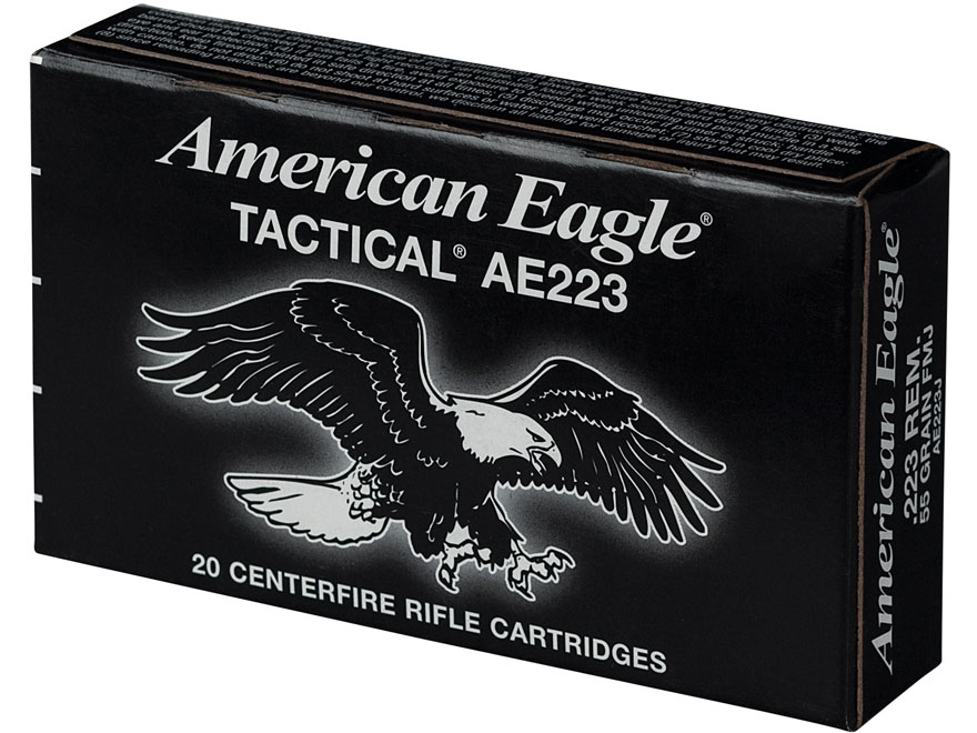 Federal American Eagle Tactical Ammunition 223 Remington 62 Grain Full Metal Jacket Box...