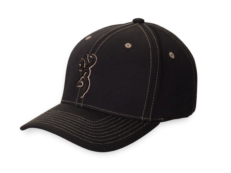 Browning Dylan Flexfit Logo Cap Polyester Black and Khaki