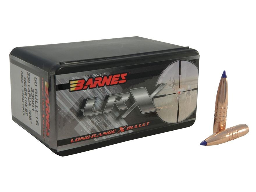 Barnes Long-Range Hunting Bullets 338 Lapua Magnum (338 Diameter) 280 Grain LRX Boat Ta...