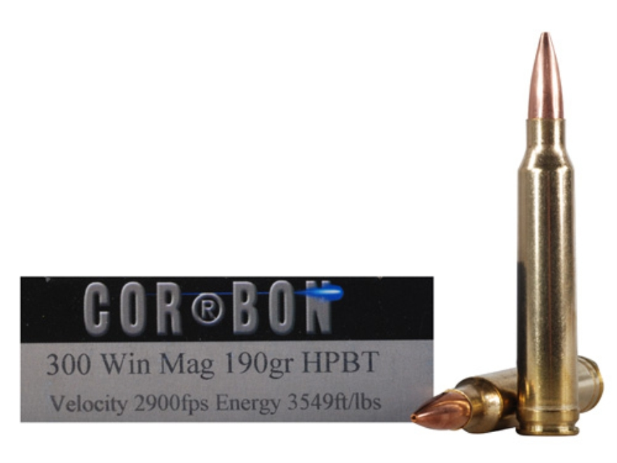 Cor-Bon Performance Match Ammunition 300 Winchester Magnum 190 Grain Hollow Point Boat ...