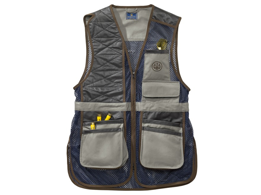 Beretta Two Tone Clays Shooting Vest Cotton Canvas/Polyester