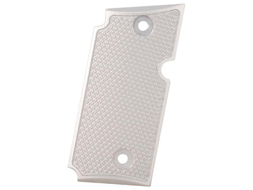 AlumaGrips Slimline Grips Sig Sauer P238 Checkered Aluminum Matte Silver