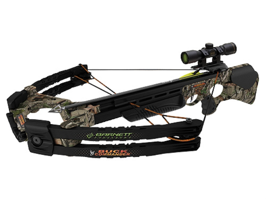Barnett Buck Commander Crossbow Package with Illuminated 3x 32mm Multi-Reticle Scope Ne...