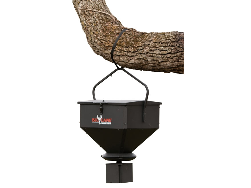 Big Game 100 lb Hanging Game Feeder Steel Black