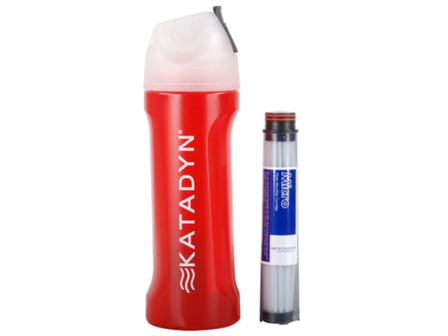 Katadyn MyBottle Microfilter Water Filtration Bottle Polymer Red