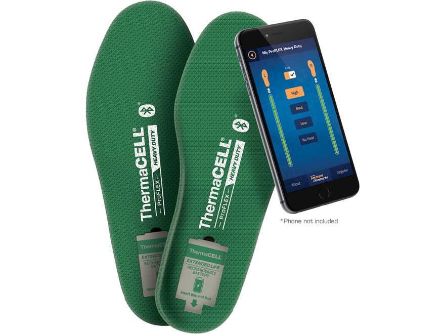 Thermacell ProFLEX Heavy Duty Bluetooth Remote Heated Insoles