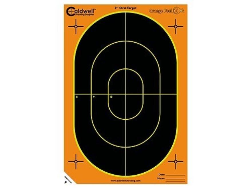 """Caldwell Orange Peel Target 9"""" Self-Adhesive Silhouette Package of 100"""
