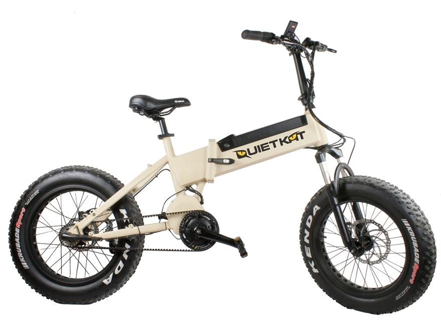 QuietKat 750W Motorized Folding FatKat Bike with Internal Motor and Carbon Belt Drive