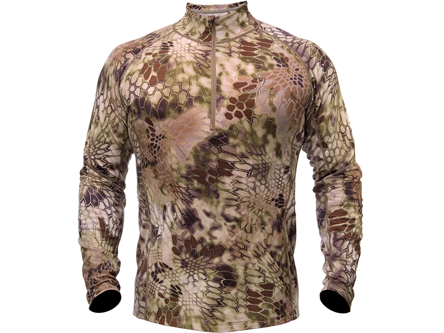 Kryptek Men's Hoplite II Heavyweight 1/4 Zip Base Layer Shirt Long Sleeve Merino Wool H...