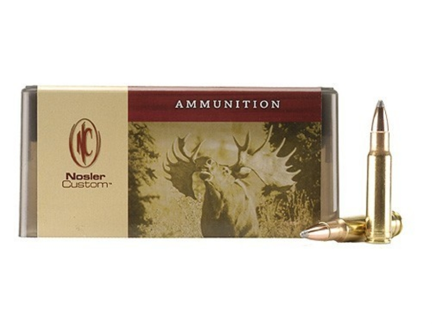 Nosler Custom Ammunition 350 Remington Magnum 225 Grain Partition Spitzer Box of 20