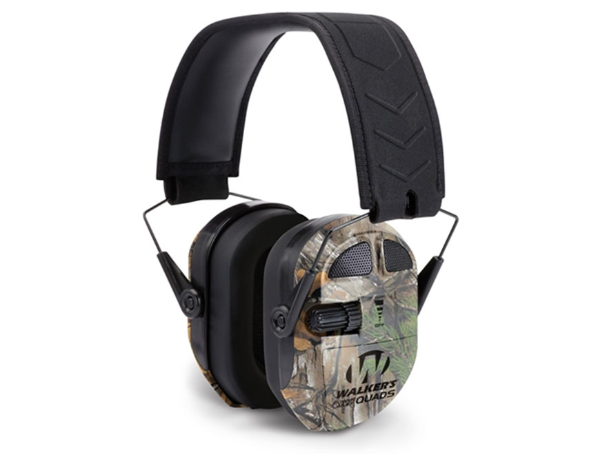 Walker's Ultimate Power Muff Quads Electronic Earmuffs (NRR 27dB) Black