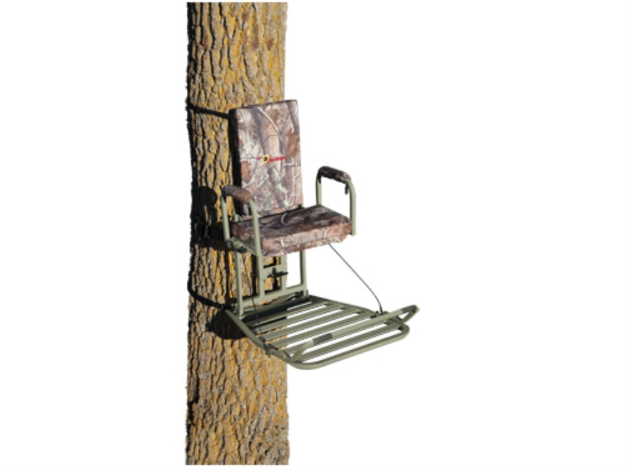 API Outdoors Deluxe Baby Grand Hang On Treestand Aluminum Realtree AP Camo