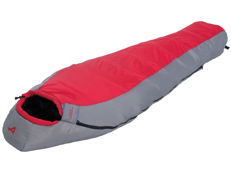 ALPS Mountaineering Red Creek Sleeping Bag Nylon Red and Grey