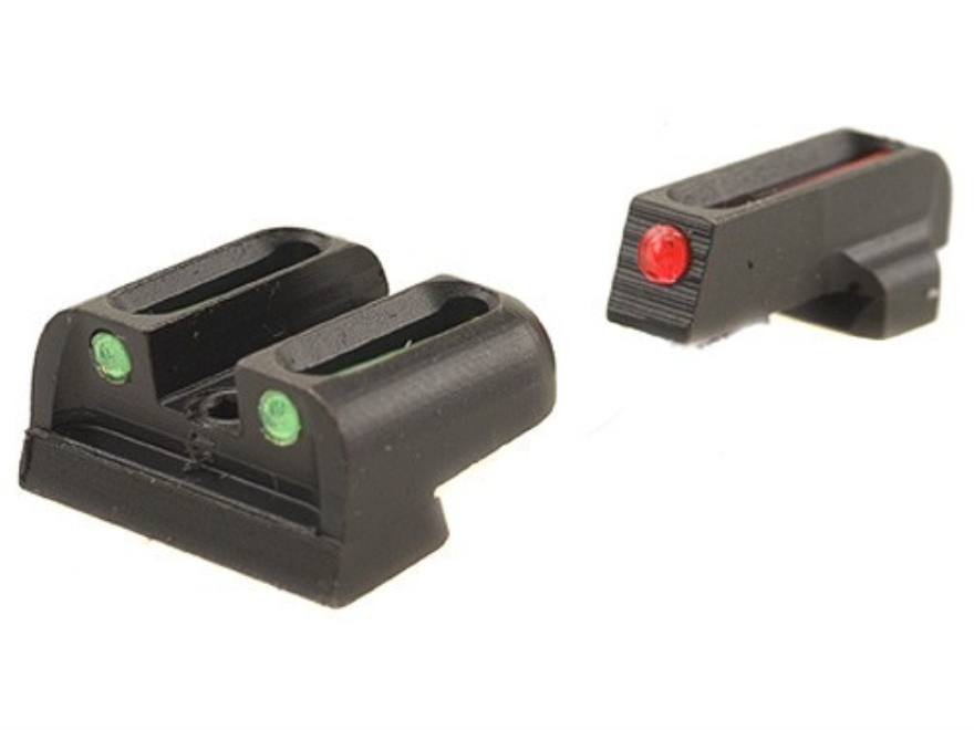 TRUGLO Brite-Site Sight Set Sig Sauer #8 Front #8 Rear Steel Fiber Optic Red Front, Gre...