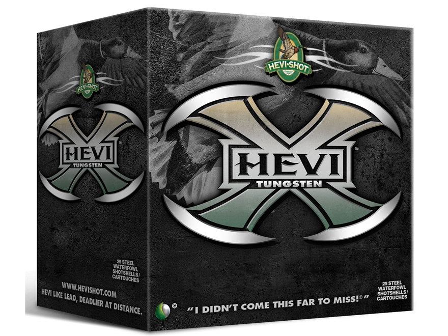 "Hevishot Hevi-X Waterfowl Ammunition 12 Gauge 3-1/2"" 1-3/8 oz #2 Non-Toxic Tungsten Shot"