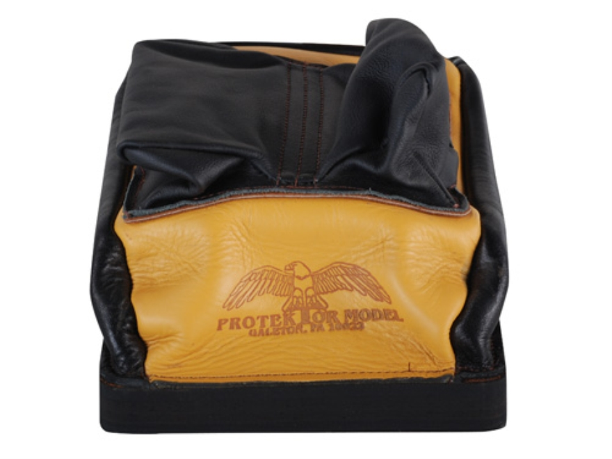 Protektor Custom Bumble Bee Dr Leather Rabbit Ear Rear Shooting Rest Bag Leather Tan Un...