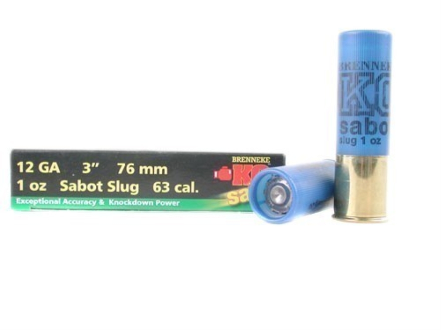 "Brenneke USA K.O. Ammunition 12 Gauge 3"" 1 oz Sabot Slug Box of 5"